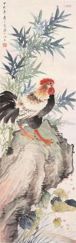 吴青霞(1910-2008) 大吉图 设色 纸本立轴