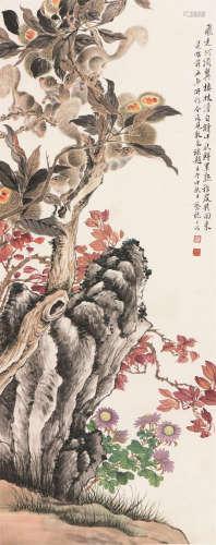 蔡铣(1898-1960) 鼠嬉图 设色 纸本镜片