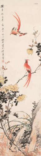 丁宝书(1866-1936) 双寿 设色 纸本立轴