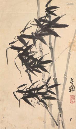 李苦禅(1899-1983) 墨竹 水墨 纸本立轴