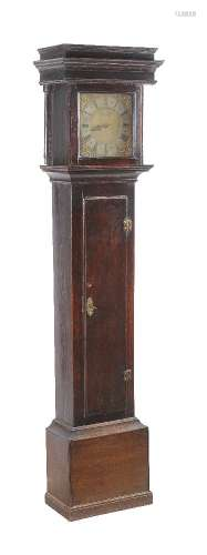 A stained oak longcase clock, 18th century and later