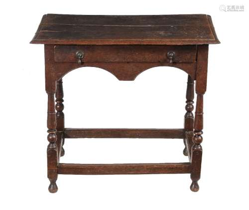 A William and Mary oak side table, circa 1690
