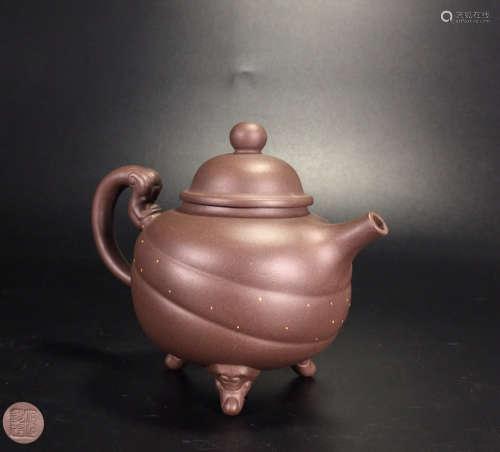 A ZIASHA TRIPOD TEA POT