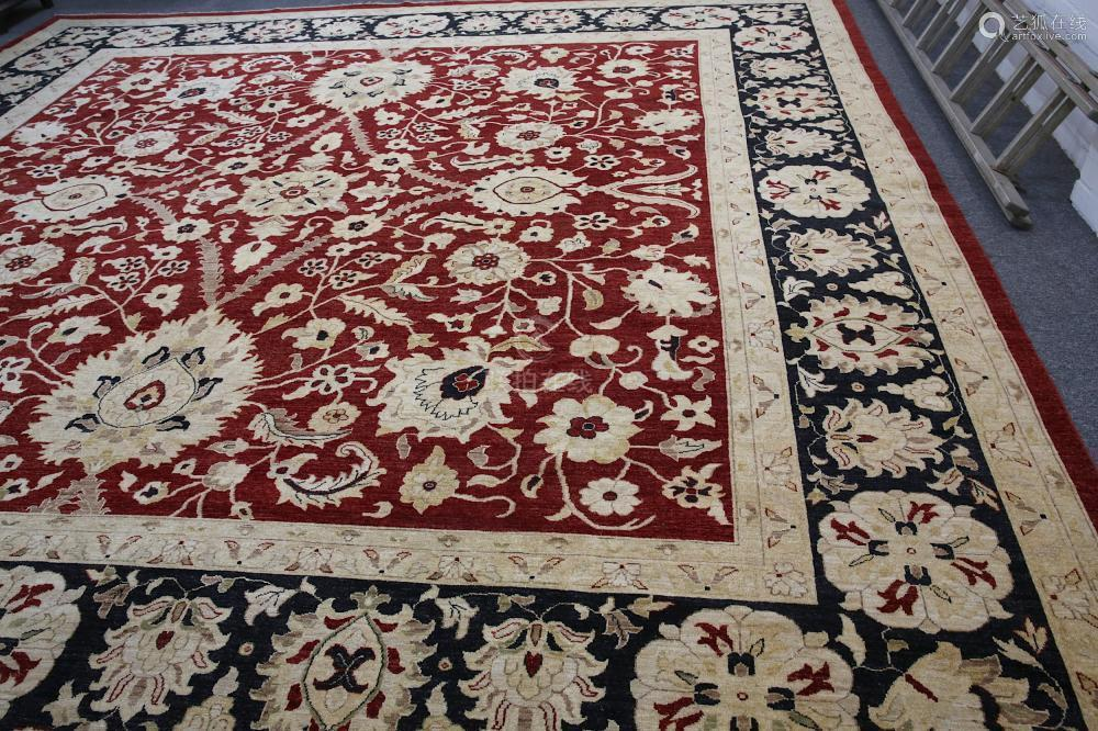 A FINE LARGE ZIEGLER DESIGN CARPET approx: 14ft.5in. x 14ft.8in.439cm. x 446cm.) Very good overall