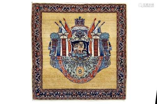 A FINE KASHKULI RUG, SOUTH-WEST PERSIA approx; 3ft.4in. x 3ft.(102cm. x 99cm.) The field with very