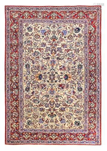 AN EXTREMELY FINE NAIN TUDESHK RUG, CENTRAL PERSIA approx: 7ft.2in. x 4ft.11in.(218cm. x 150cm.)