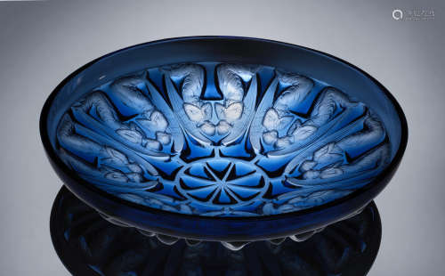 A 'Anges' Bowl, designed in 1930 René Lalique (French, 1860-1945)