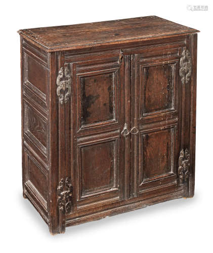 A small Charles II joined oak two-door chest, West Country, circa 1670
