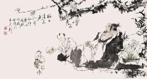 王锡麒、张晓飞合作 山水 镜心 设色纸本