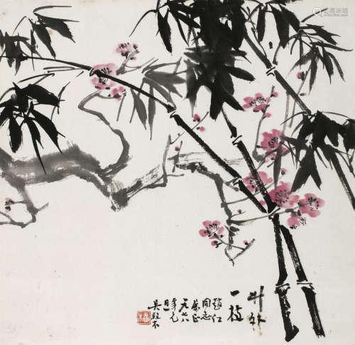 吴养木 花卉 立轴 设色纸本