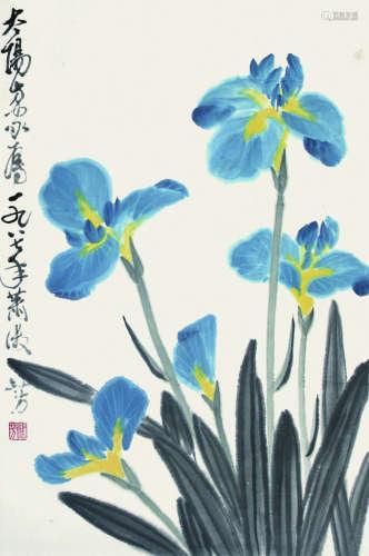 箫淑芳 花卉 立轴 纸本