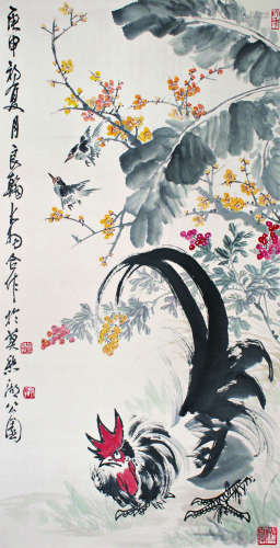 陈大羽 赵良翰 大吉图(庚申) 立轴 纸本