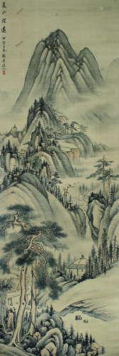 弘旿 山水 立轴 绢本