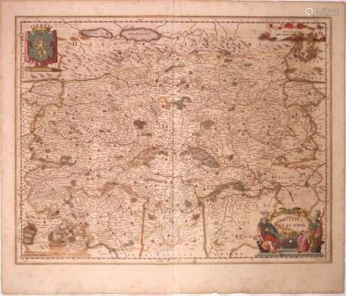 Carte XVIIIe s.: «Comitatis Burgundiae vulgo LA FR...