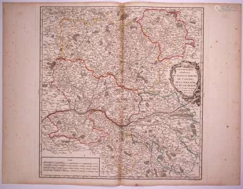 Carte: «Gouvernements généraux du MAINE ET PERCHE,...