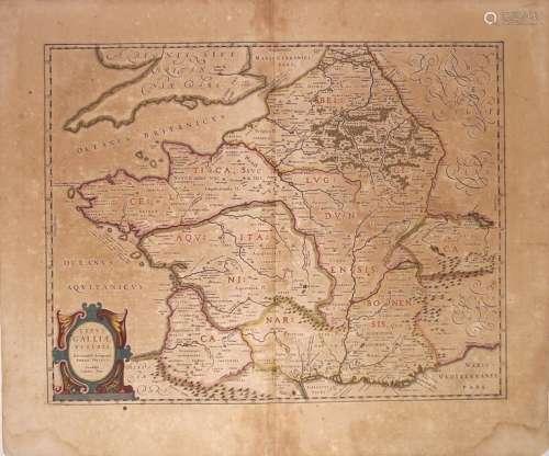 2 Cartes XVIIe s.: de LA GAULE. «Typus Galliæ vété...