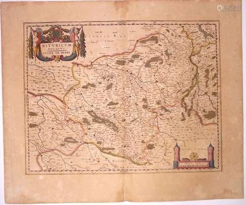 Carte XVIIe s.: «Bituricum vulgo Duché de BERRY» (...