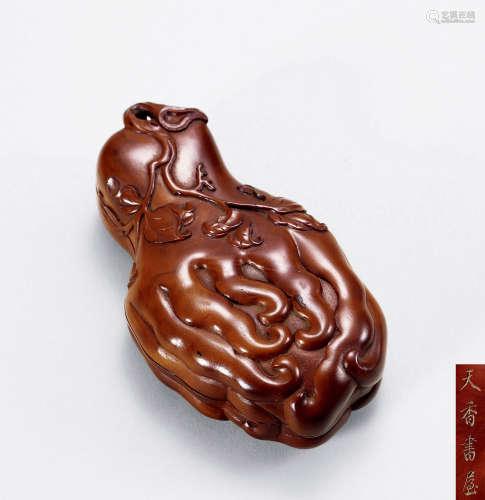 18世纪 黄杨木佛手盒