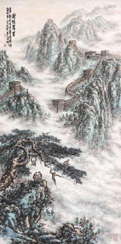 李硕卿(1908-1993) 封侯万里 立轴 设色纸本