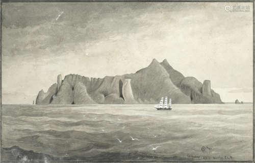 Trinidada (now Trindade) unframed Edward Roper(British, 1830-1909)