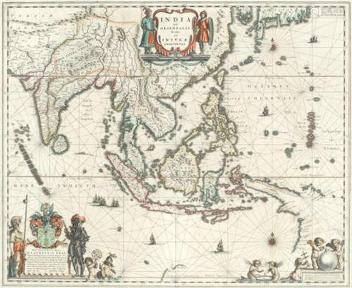 India quae Orientalis et insulae adiacentes, Amsterdam, [c.1633], hand-coloured double-page engraved maps (2) BLAEU (WILLEM)