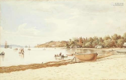 Sydney Harbour, 1895 John Campbell(Australian, 1855-1924)