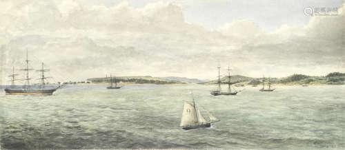 Off St. Helens, Isle of Wight unframed Edward Roper(British, 1830-1909)