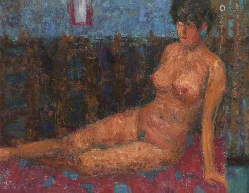 詹浮云 裸女 1991 油彩 画布
