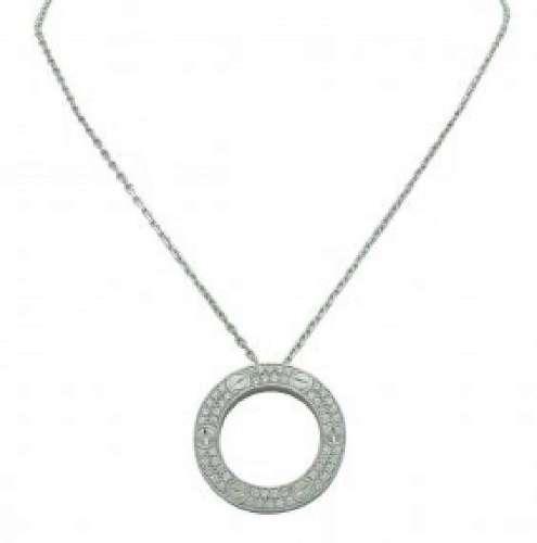 Cartier 18K White Gold Diamond LEVE Necklace