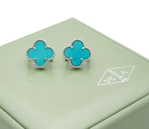 Van Cleef & Arpels Alhambra Turquoise Earrings