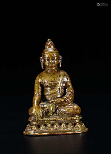 明 铜释迦牟尼造像