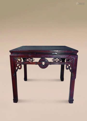 清 红木拉钱方桌