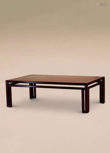 清 花梨木起线炕桌