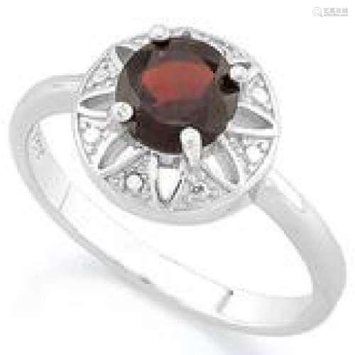 CLASSIC BRIGHT RED GARNET .35CT GEMSTONE RING