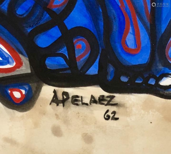 AMELIA  PELAEZ FIGURATIVE MIXED MEDIA V$4,500
