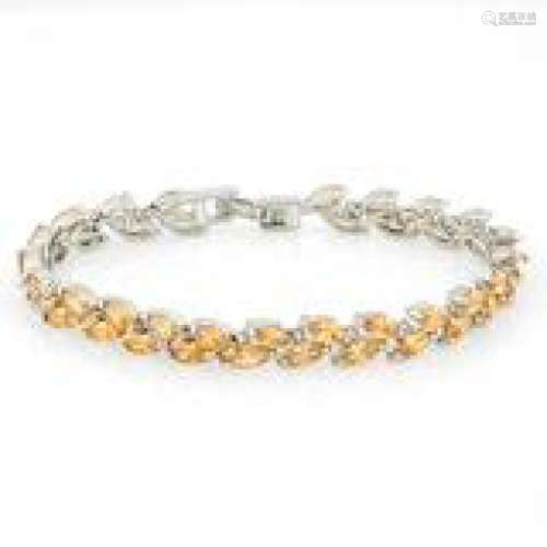 LADIES DECO YELLOW CRYSTAL TENNIS BRACELET