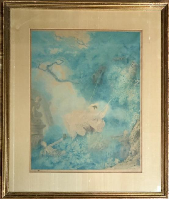 PENCIL SIGNED RICHARD RANFT LITHOGRAPH V$1000