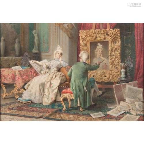 Francesco Ballesio (Italian, 1860-1923) Watercolor