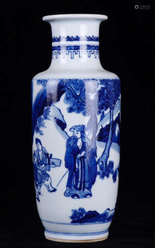 17-19TH CENTURY,A CHINESE-STAFF-SHAPEDS VASE , QING DYNASTY
