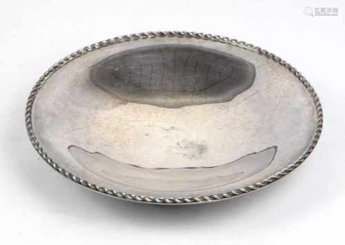 Silberschale *150 Jahre Hummelwerk*punziert, Silber 800 dt. mit Halbmond & Krone sowie Franz