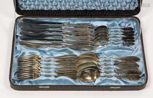 WMF Tafelbesteck *Barock*Metall versilbert, WMF Patent 90er Silberauflage, Modell 2200 mit