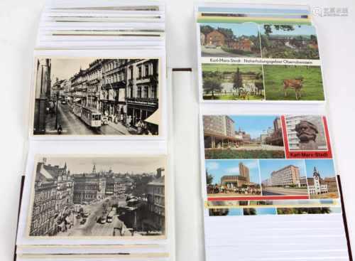 AK Albumca. 50 Postkarten mit versch. deutschen Ansichten von Ostsee bis Sachsen, überwiegend