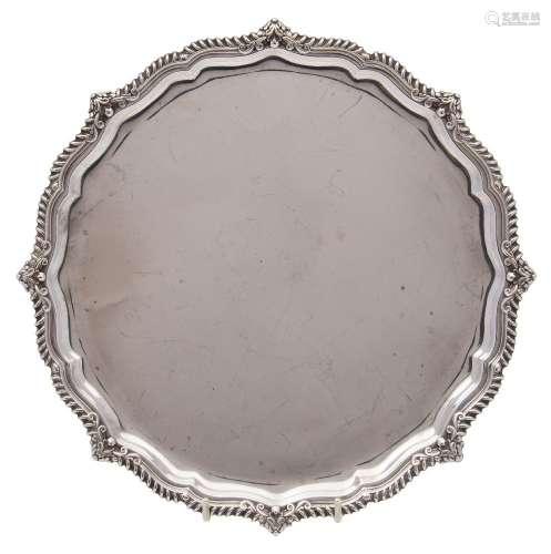 An Edward VII silver salver, maker James Dixon and Sons, Sheffield,