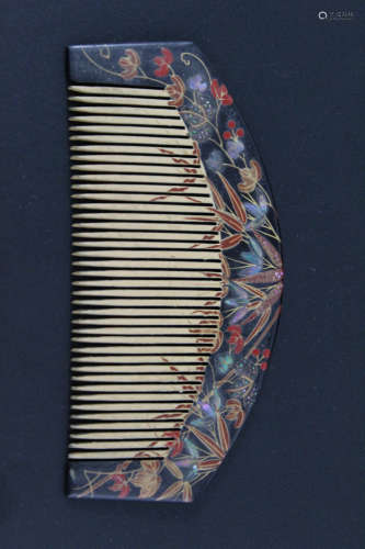 Japanese lacquer comb.