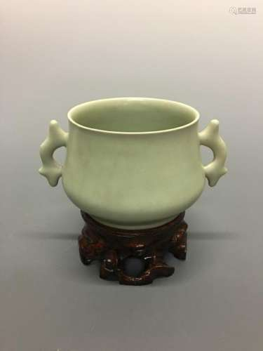 Chinese Ru Type Cup with Handles
