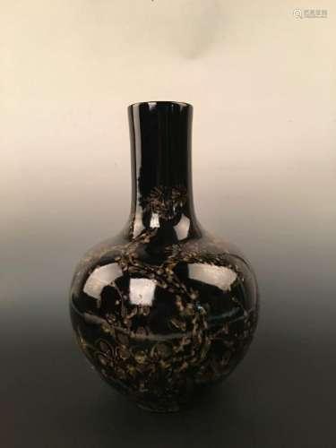 Jizhou Kiln Globe Bottle with HongWu Mark