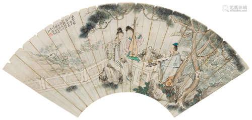 潘剑苹(1906~1998) 1996年作 东山竹音 镜心 设色纸本