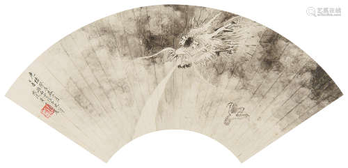 黄山寿(1855~1919) 1883年作 墨龙 立轴 水墨纸本