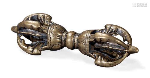 明 铜鎏金金刚杵