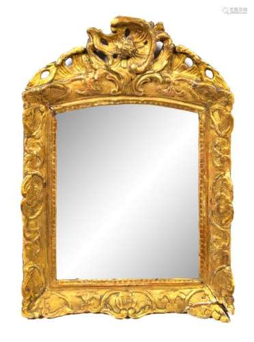 A Regence Giltwood Mirror Height 26 1/8 x width 18 1/4